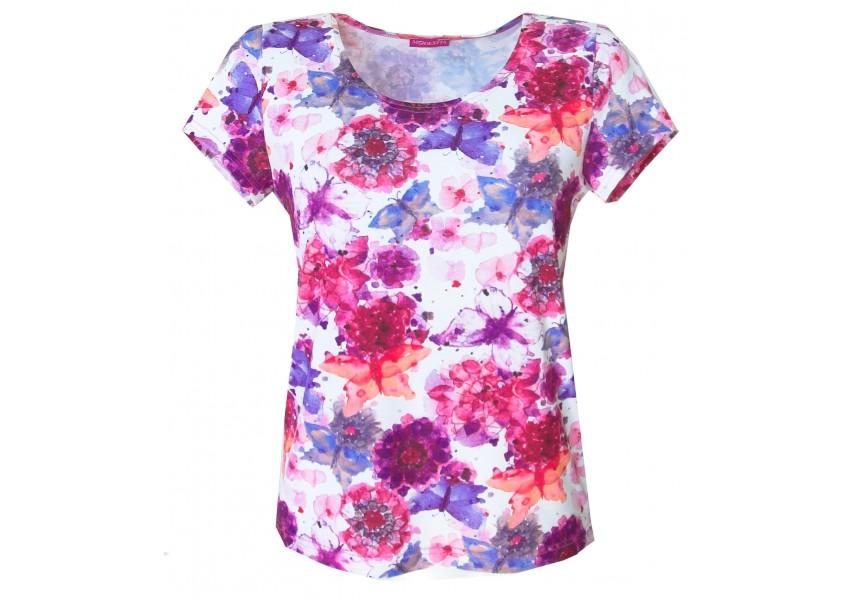 Halenka s růžovo-fialovými květy