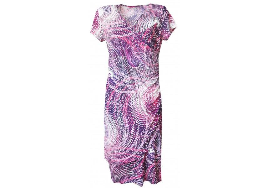 Krásné šaty s překládaným výstřihem