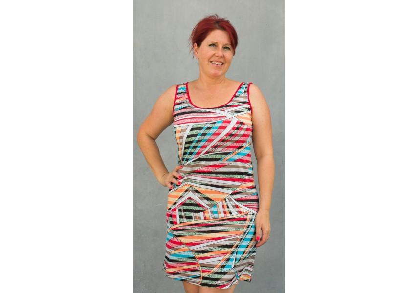 Plážové barevné šaty