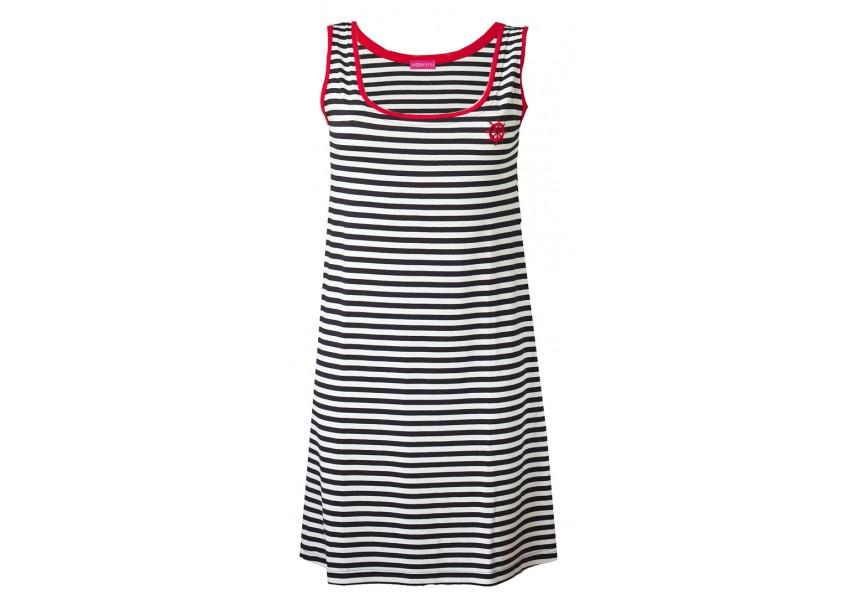 Plážové pruhované šaty