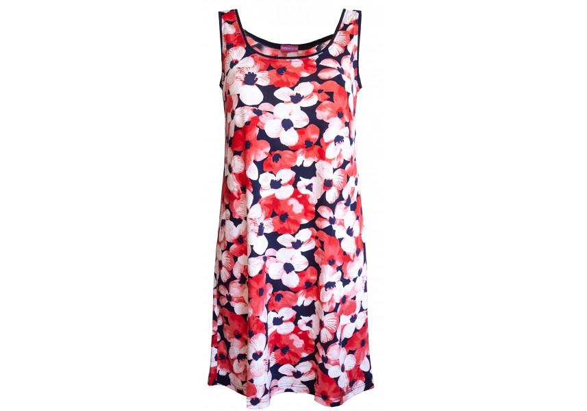Plážové šaty s červenými květy