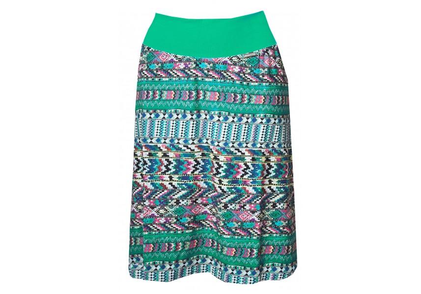 Krátká barevná sukně