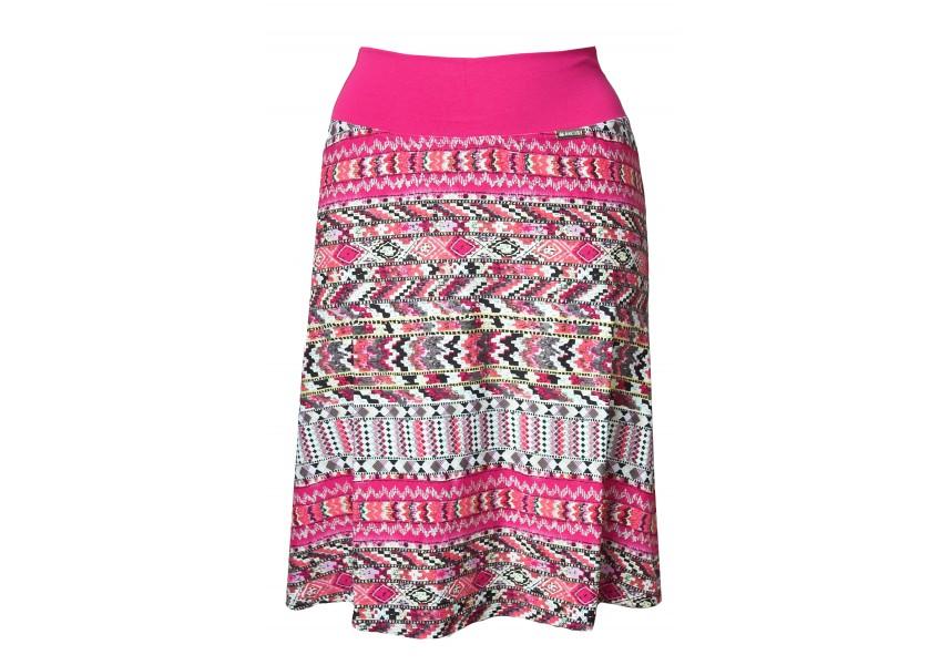 Letní sukně s růžovým vzorem