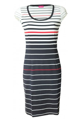 Elegantní šaty v námořnických barvách