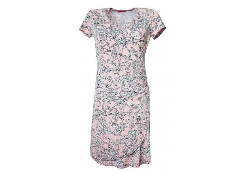 Překládané růžové šaty