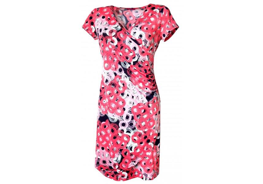 Letní šaty s překládaným výstřihem