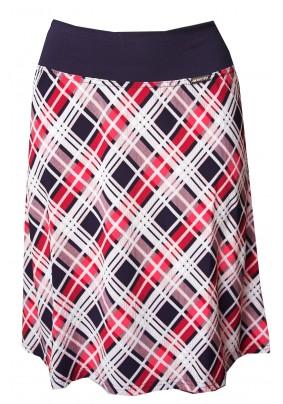 Červená kostkovaná sukně