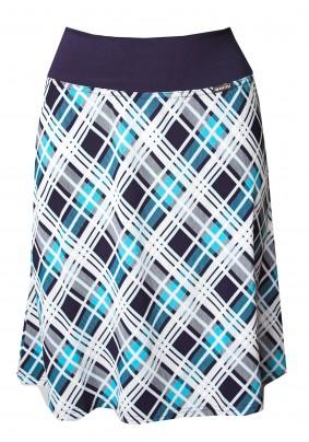 Modrá kostkovaná sukně