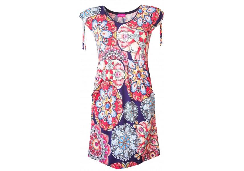 Barevné letní šaty s kapsami