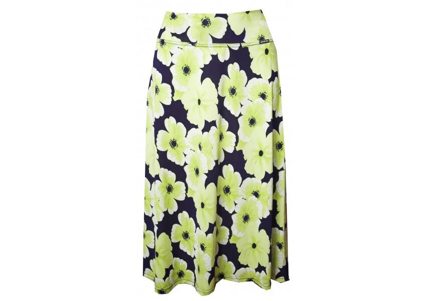 Sukně se zelenými květy