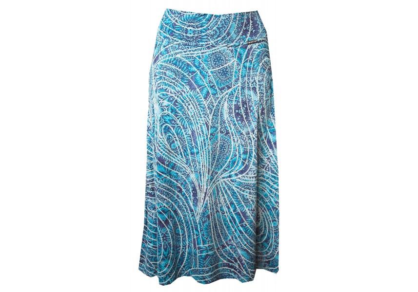 Modrá letní sukně