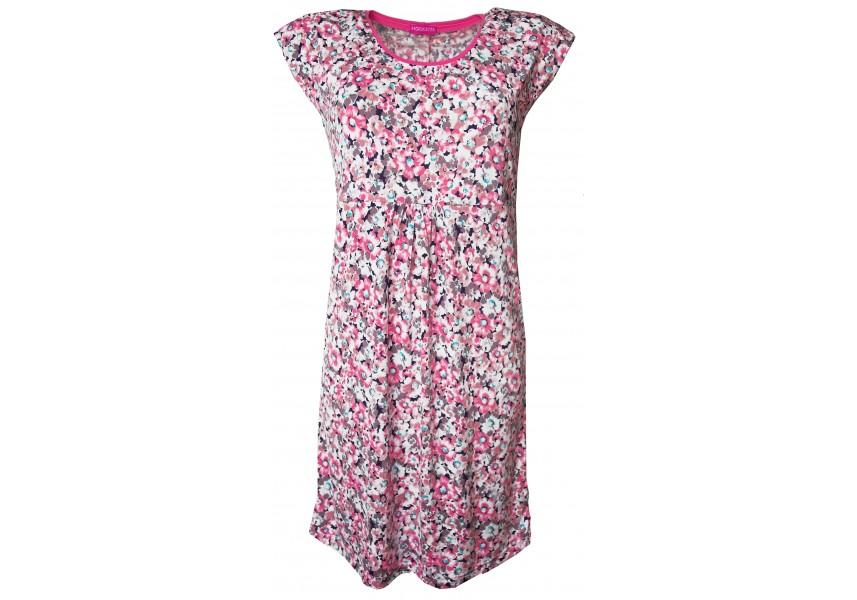 Letní šaty s růžovými kvítky