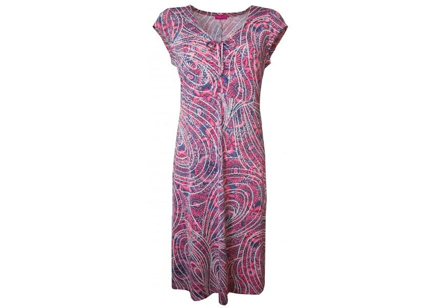 Letní šaty modro-růžové
