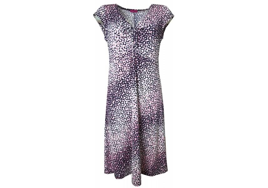 Modro-růžové letní šaty