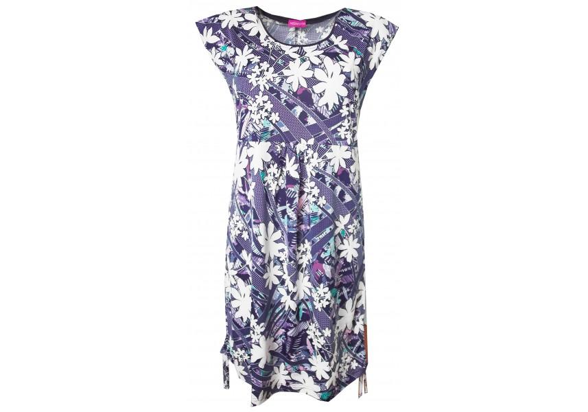 Letní šaty s plastickým vzorem