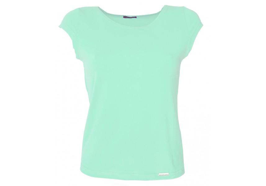 Jednobarevné triko v mentolové barvě