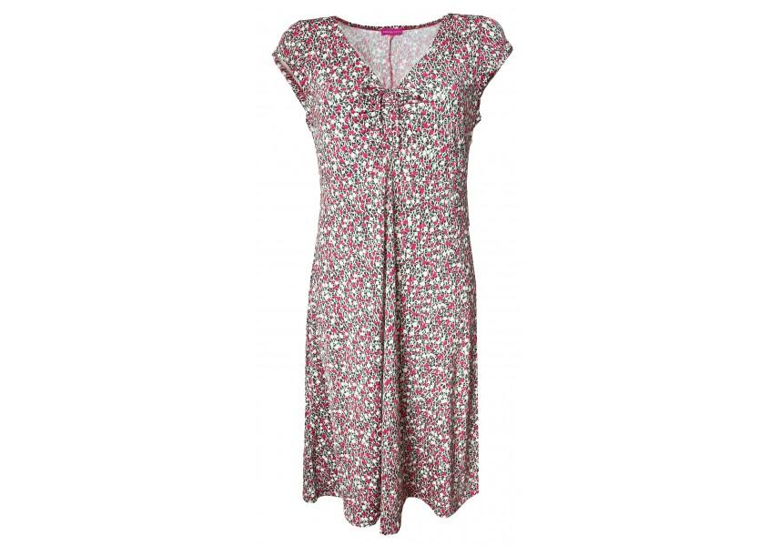 Letní šaty s drobným tiskem