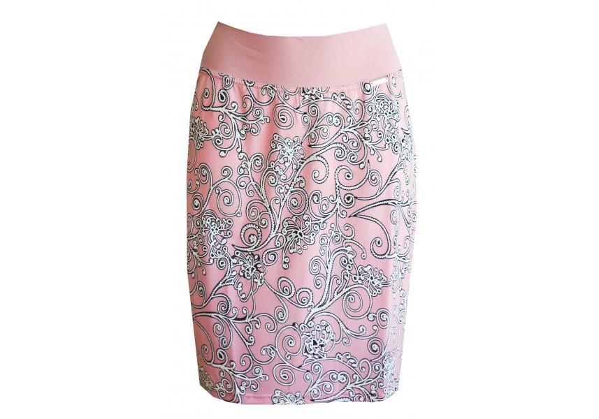Růžová sukně se vzorem