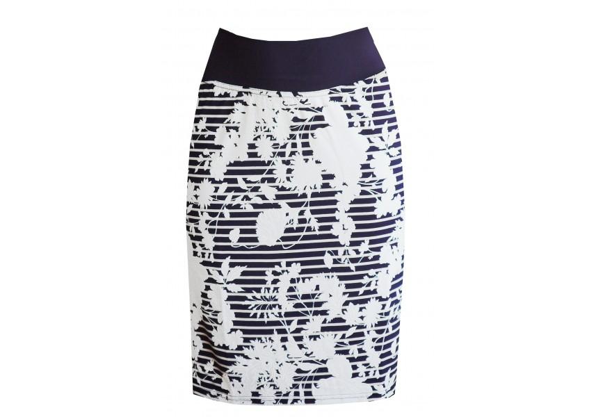 Sukně s modro-bílým vzorem