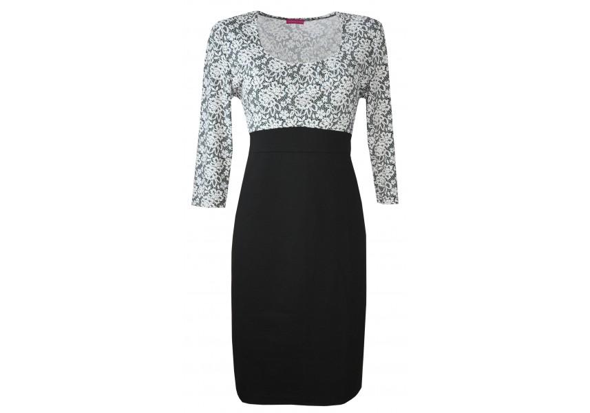 Elegantní uzké šaty se sedlem