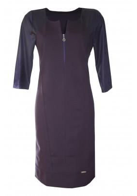 Tmavě modré dílové šaty