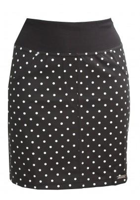 Krátká sukně s puntíky