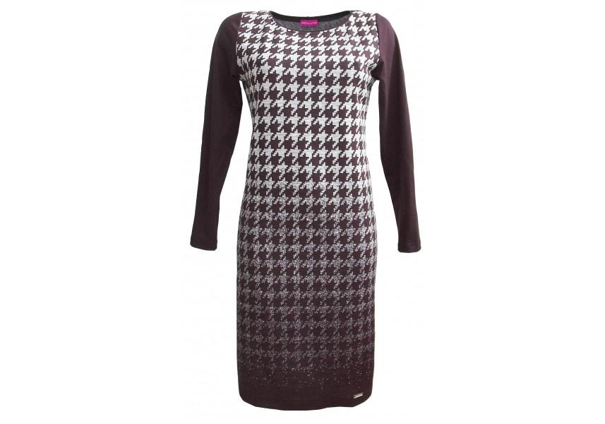Elegantní šaty černo-šedé šaty