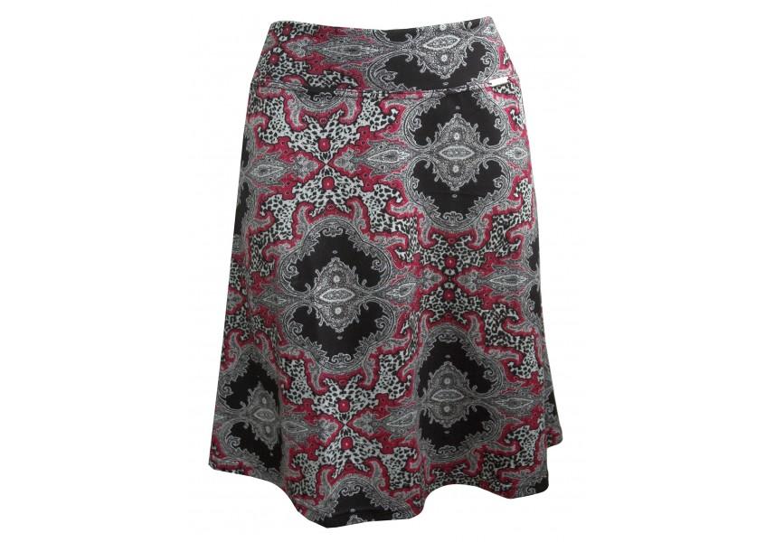 Sukně s červeným vzorem