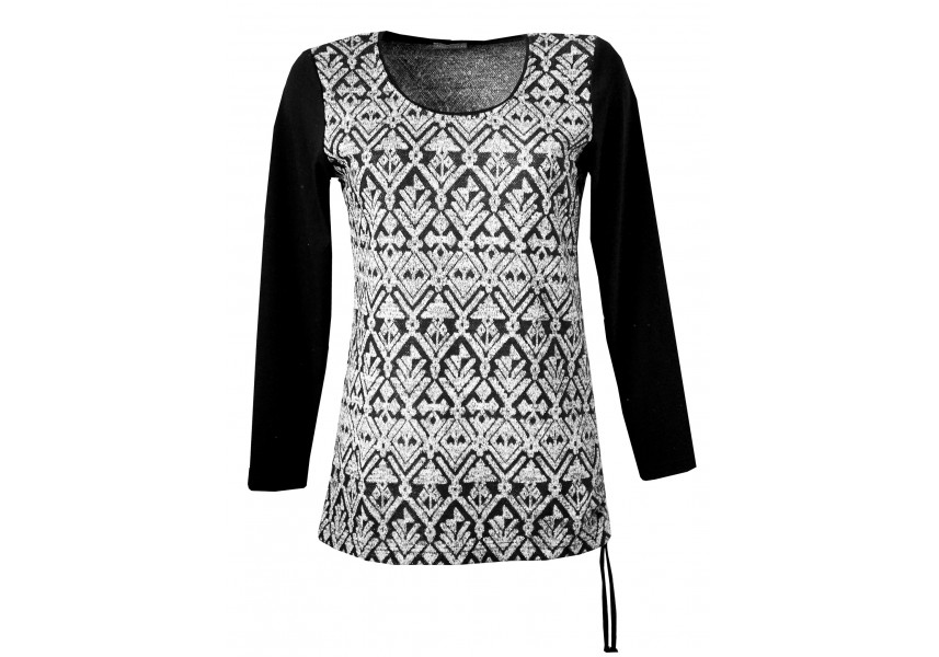 Stříbro-šedý delší svetr