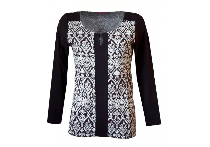 Elegantní svetr se stříbrným leskem