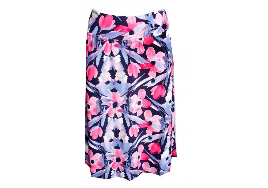 Modrá sukně s pruhem