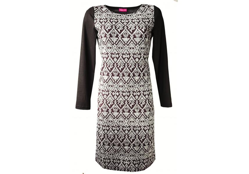 Teplé šaty s leskem