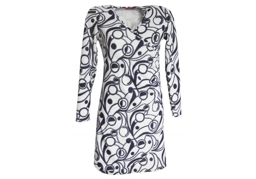 Teplé překládané šaty