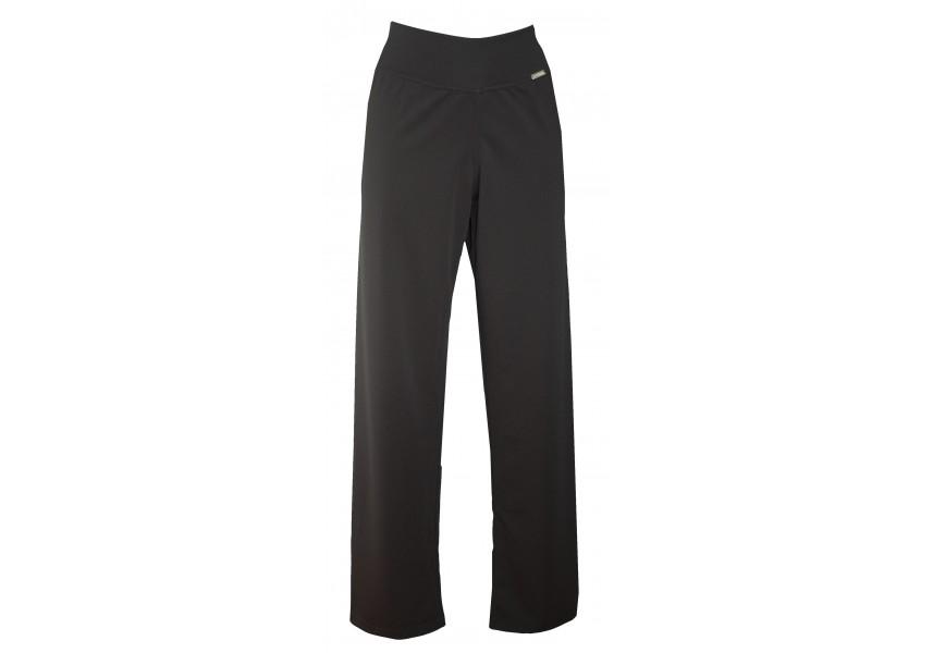Černé polyesterové kalhoty