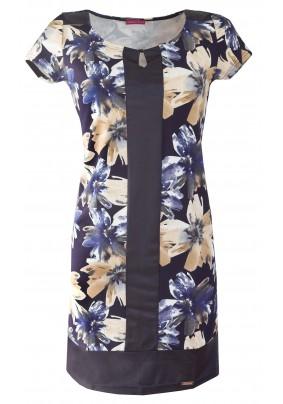 Elegantní šaty s velkými květy