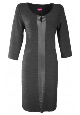 Černé kombinované šaty
