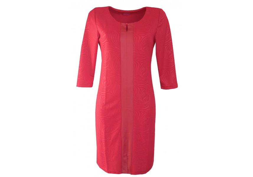 Červené kombinované šaty