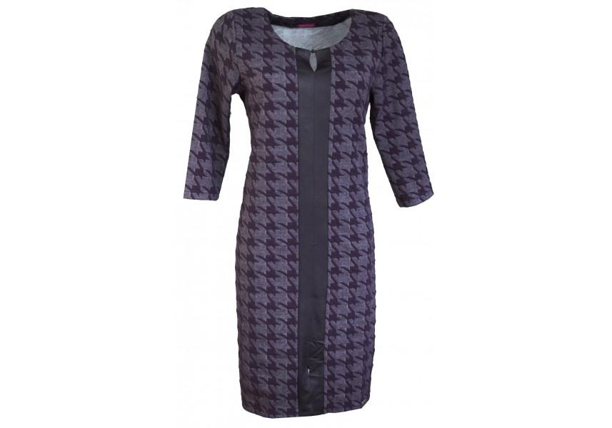 Modré kombinované šaty