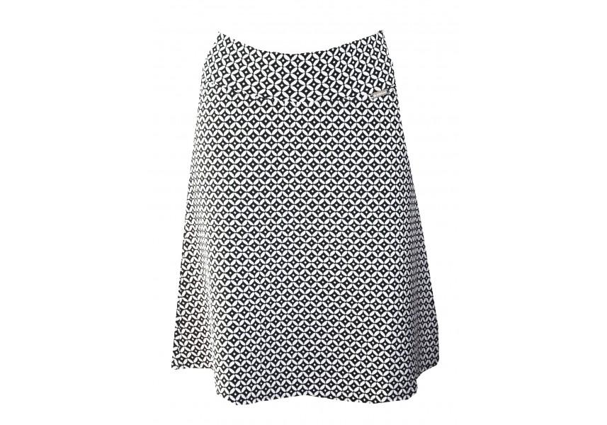 Sukně s černo-bílým vzorem