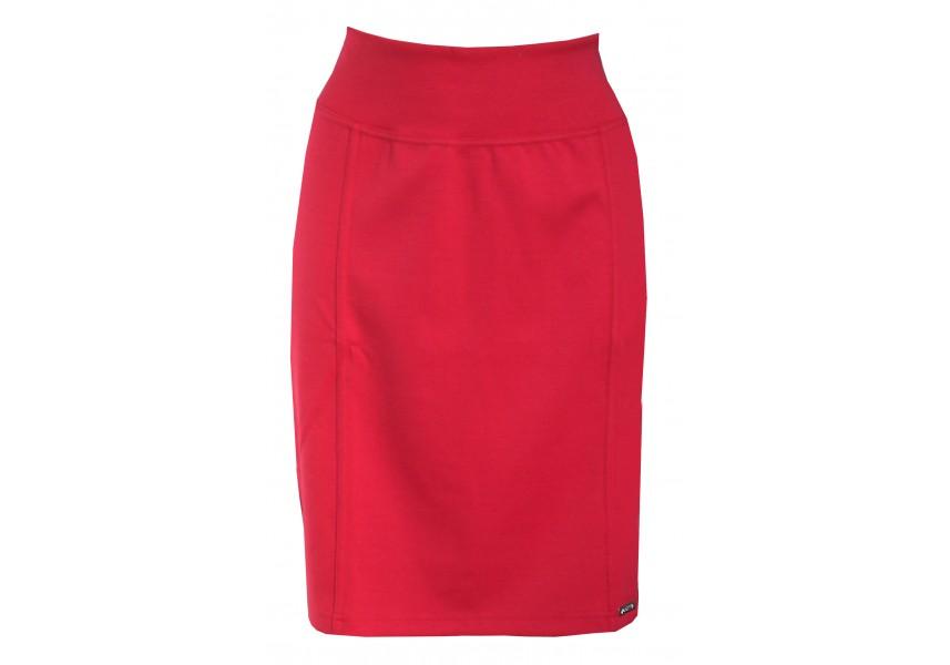 Červená úzká sukně