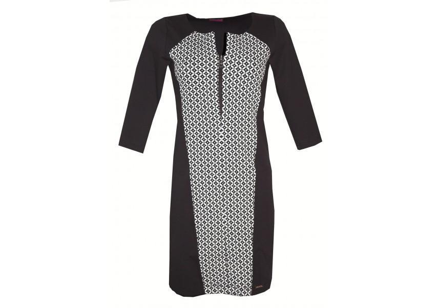 Dílové černo-bílé šaty