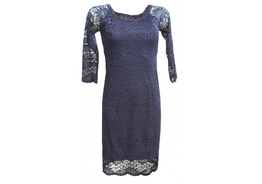 Modré celokrajkové šaty