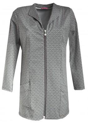 Prodloužený kabátek se vzorem