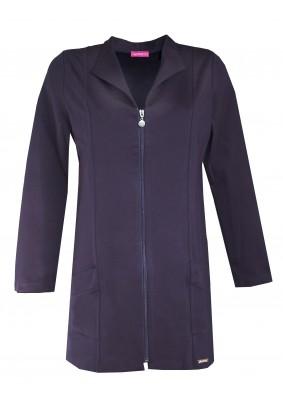 Prodloužený modrý kabátek