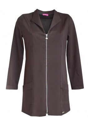 Prodloužený černý kabátek