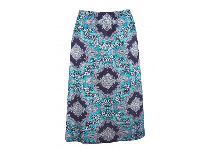 Modrá sukně se vzorem do A