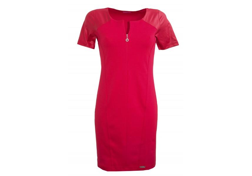 Červené dílové krátké šaty