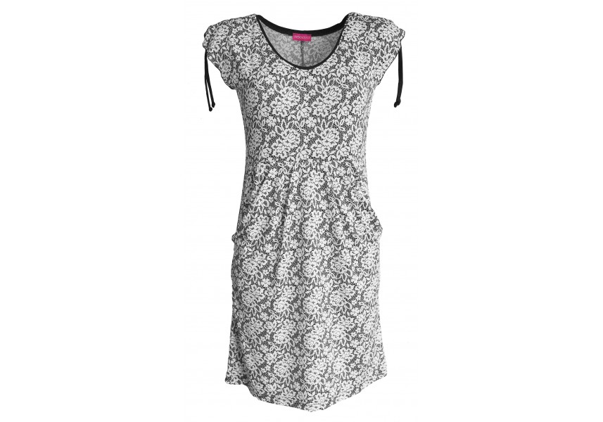 Letní černo-bílé šaty
