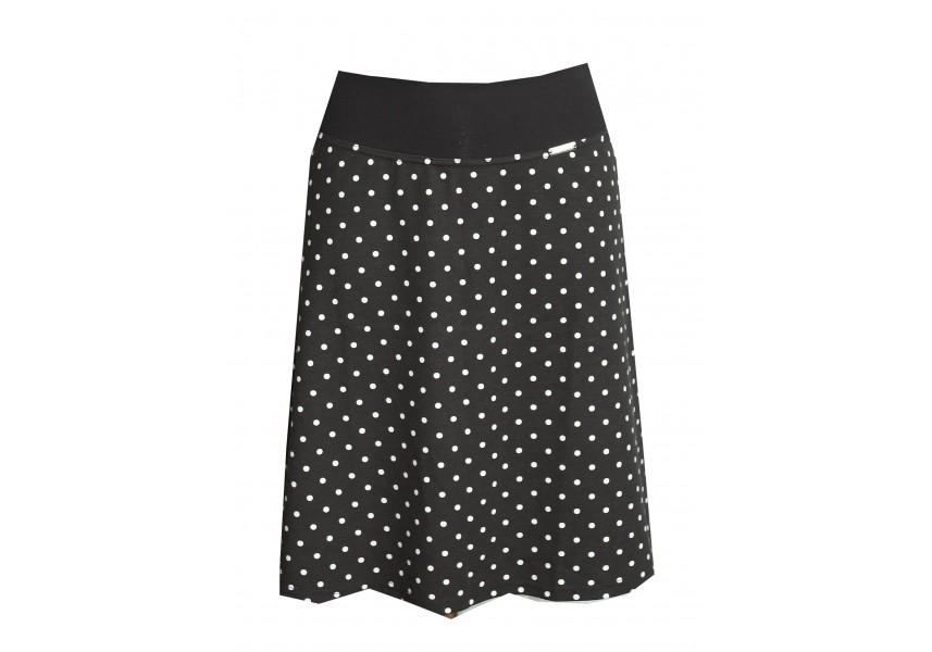 Černá puntíkatá sukně