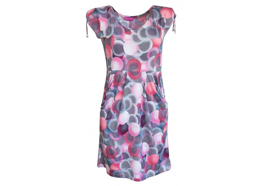 Letní šaty s velkými kapsami